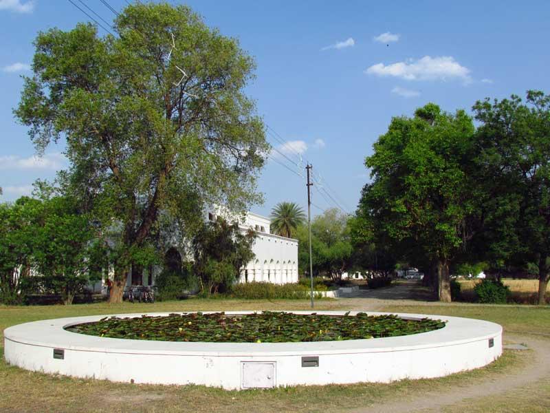 Entspannen Sie wie die Maharadschas am Teich in dieser grünen, naturbelassenen Oase bei Shahpura.