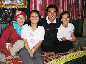Unterbringung bei einer Gastfamilie in Sikkim.
