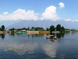 Boote auf dem Nagin und Dal Lake, Kaschmir