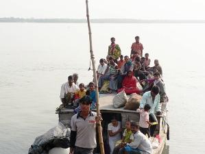 Lokales Boot in den Sunderbans