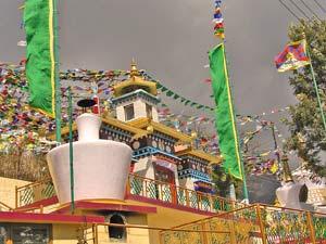 Tempel in McLoed Ganj nach dem Trekking im Himalaya
