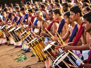 Thrissur Elefantenfest in Kerala