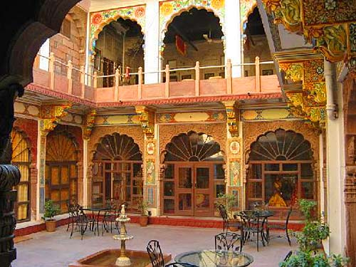 Innenhof in Jodhpur bei einer Nordindienreise