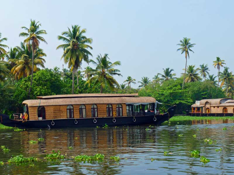 Indien Individualreisen Backwaters Hausboot