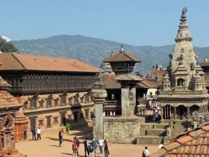 Kleiner mittelalterlicher Ort Bhaktapur