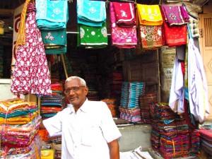 Verkäufer auf dem Markt in Dungapur