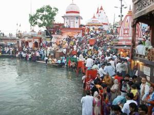 Eindrucksvolle Zeremonie in Haridwar