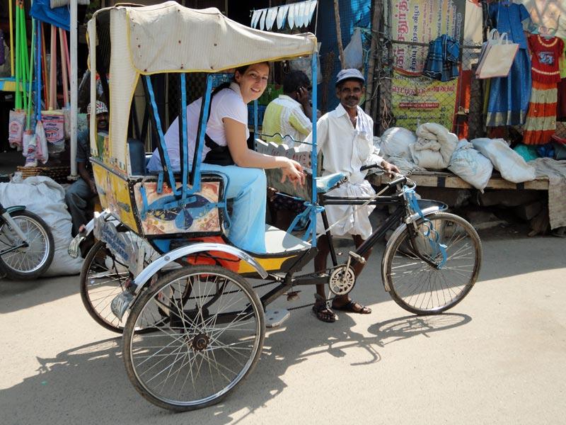 Nordindien Rundreise: Stadttour durch Dehli per Rikscha