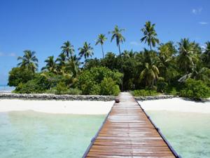 Exotischer Strand der Malediven
