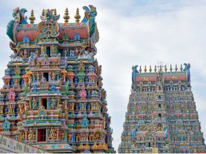 Meenakshi Tempel in Madurai in Tamil Nadu