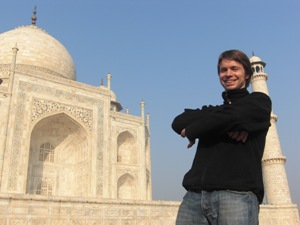 Tourist beim Taj Mahal in Agra