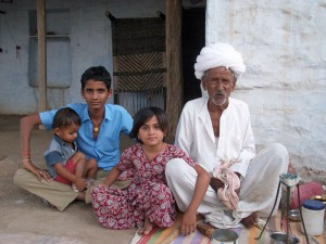 Bishnoi Familie in Chandelao
