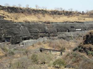 Ausblick auf die Felsenschlucht von Ajanta