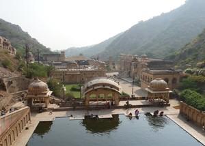 Tempelanlage Galta Monkey Temple Pilgerort Indien