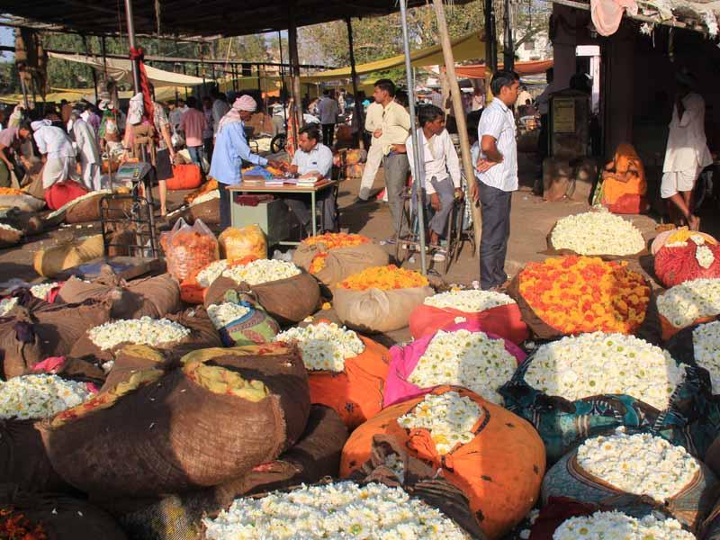 Bunter Blumenmarkt