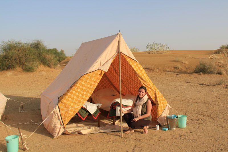 Zelt in der Wüste von Jaisalmer auf Indien Rundreise