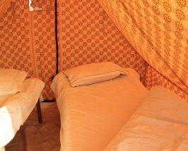 Bett im Zelt