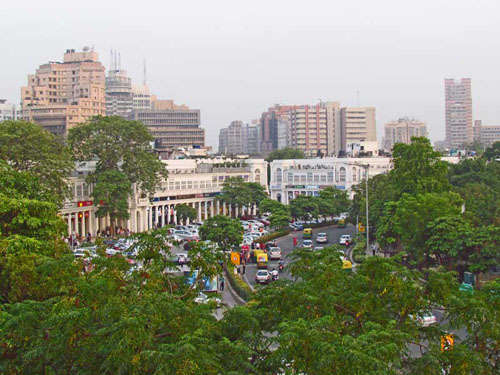 Connaught Platz in Delhi