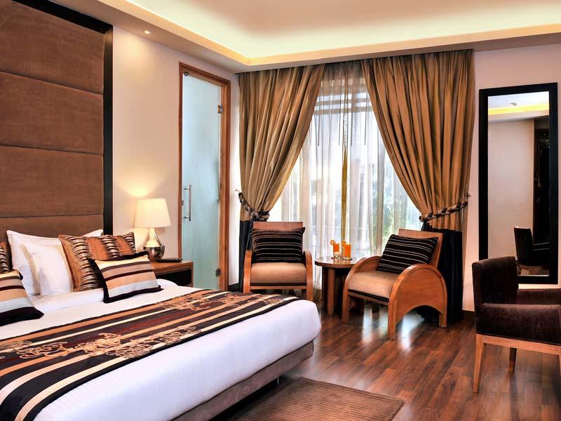 Zimmer Komforthotel Delhi bei einer Gruppenreise in Indien