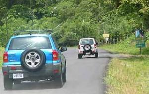 Auto rijden in Costa Rica