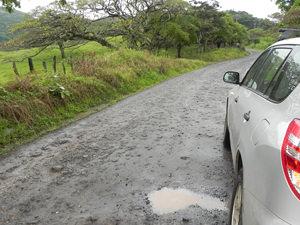 Costa Rica Panama en Nicaragua klimaat: modderige wegen
