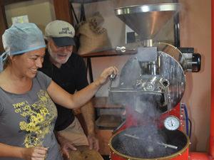 Koffieheuvel in het binnenland