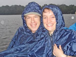Costa Rica klimaat, lachen in de regen