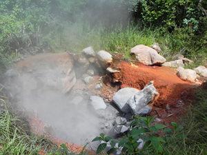 Costa Rica tico's, vulkanisch landschap