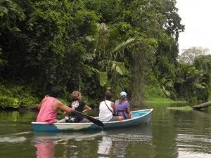 Costa Rica tico's, kanalentocht