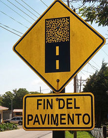 Slecht wegdek richting Monteverde
