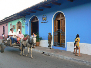 nicaragua granada straatbeeld costarica