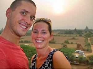 Die Aussicht auf Bagan genießen