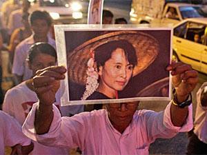 Ein Bild der sehr beliebten Aung San Su Kyi
