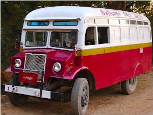 Oldtimer Bus Bagan