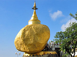 Myanmar Highlights - Goldener Fels