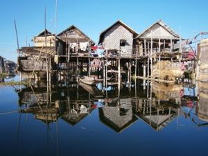Spiegelungen auf dem Inle-See