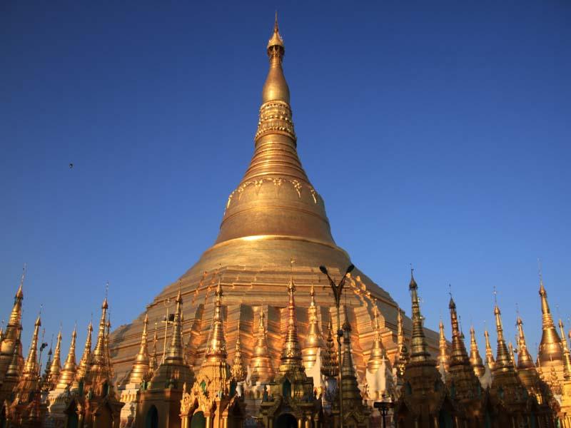 die strahlende Shwedagon Pagode