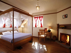 Zimmer mit Kamin in Kalaw Myanmar
