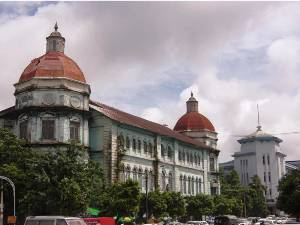 Koloniale Bauten in Yangon