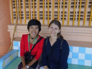 Guide und Reisende in Mandalay