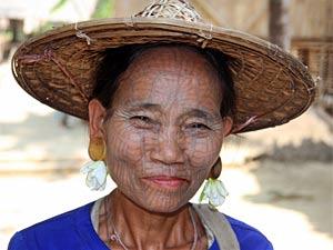 Eine Chin Frau bei Mrauk U