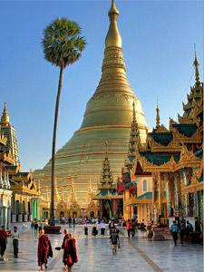 Majestätische Shwedagon Pagode in Yangon