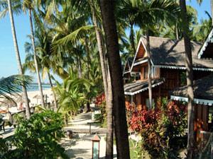 Gartenanlage am Ngapali Beach