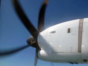 Propellerflugzeug nach Sittwe