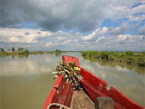 Mit dem Boot zwischen Mrauk U und Sittwe