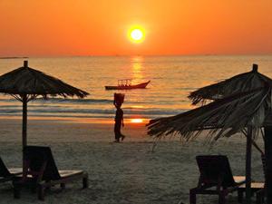 Sonnenuntergang am Ngapali Beach