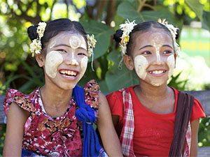Mädchen bei Hpa An im Süden Myanmars