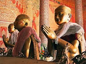 Tempel in Süd Burma in der Nähe von Hpa An