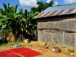 Trekking in Myanmar: Kleines Haus zwischen Kalaw und Inle-See