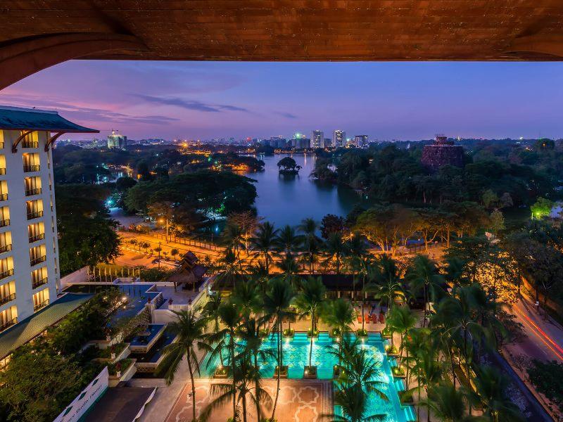 Yangon Komforthotel Ausblick